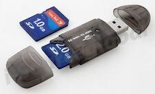 USB 2.0 SD/TF/MMC/RS-MMC Memory Card Reader Adapter for 2GB 4GB 8GB 16GB 32GB