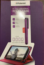 "Polaroid Universal Tablet Folio Case For 9""-10.1"" - Purple/Pink With Stylus Pen"