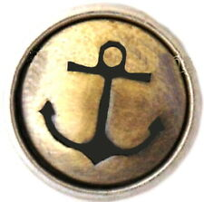 Brass Anchor Life Boat Sea 12mm Mini Petite Charm For Ginger Snaps Magnolia Vine