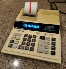 Citizen CX-220 Printing Calculator Electronics Lot Paper Roll Rare Vintage 200