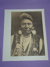 "Edward Curtis Native American Indian Vintage Photo Print ""CHIEF JOSEPH NEZ PERCE"