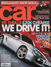 CAR magazine August 08/2005 featuring Porsche, Maybach, Alfa Romeo, Mazda MX-5
