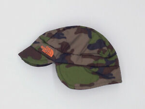 $75 The North Face Baby Green Camo Flapjacks Earflap Cap Winter Hat One Size