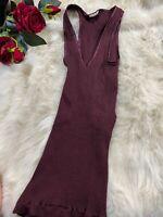 Intimissimi dark red Camisole Top sleepwear nightwear size M wool