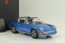 1973 Porsche 911S 911 S Targa 2.4 blau metallic 1:18 Schuco Diecast