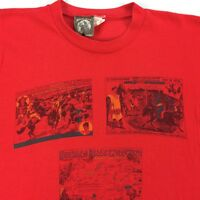 Vintage 70s 80s Paper Thin USA Made Jessewear Wild West T-Shirt LARGE Red Rare
