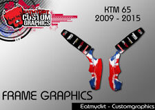 KTM 65 2009-2017 FRAME PROTECTION GRAPHICS STICKERS MOTOCROSS DECALS MX