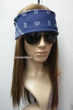 AXL Rose WIG SET w/ sunglasses Bandanna Heavy Metal Gun And Roses costume NWT