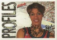 Carla McGhee 1995 Topps USA Basketball Autograph #20 Tennessee