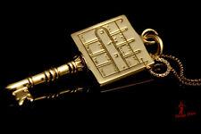 Kabbalah pendant. King Solomon's PATH CLEARING Gold plated seal. gift. non-stuck