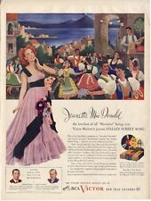 "1945 Victor Records Print Ad Jeanette Mac Donald Sings ""Italian Street Song"""