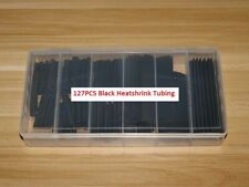 127Pcs 2:1 Heatshrink Tubing Black Assortment Wire Cable Insulation Sleeving Kit