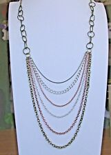 Textured Tiered Chain Necklace