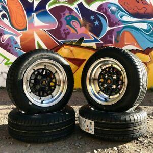 "AutoStar Korin 12""x6.0"" ET-9 Wheels with Nankang Eco-2 165/60R12 Tyres fits Mini"
