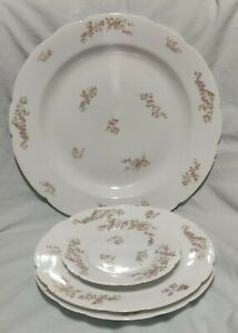 Antique Russian Imperial Porcelain Kornilov Brothers 4 plate different sizes