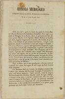 DOMENICO PETRINI ARTICOLO NECROLOGICO MORTE PIETRO PAOLUCCI GUBBIO UMBRIA 1842