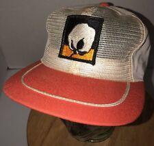 Vintage Cotton Ball Burr 70s 80s Trucker Hat Cap Strapback Usa Headliner Texace