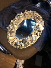 "Absolutely Gorgeous Pre-Owned Sea Shell Mirror-Frame 12""X16""-Mirror 2""X 10"" Nice"