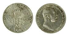 pcc1840_70) Austria 1908 60th Anniversary Silver 1 Corona