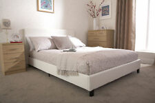 White Double Bed in a Box Faux Leather Bed LOCAL Delivery FREE ASSEMBLY