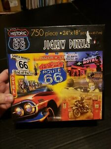 NEW - HISTORIC ROUTE 66 Jigsaw Puzzle 750pcs Baby Boomer Edition
