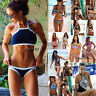 UK Sexy Womens Push Up Beach Swimwear Triangle Bra Bikini Set Bathing Swimsuit