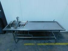 Autopsy/Embalming Table with Sink