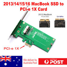 2013 Apple MacBook Air Pro SSD to PCIE PCI-e 1X Converter Adapter Add-on Card