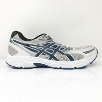 Asics Mens Gel Contend 3 T348N White Blue Running Shoes Lace Up Low Top Size 11