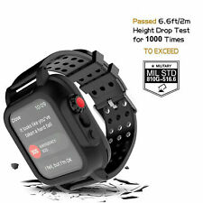 Waterproof Case For Apple Watch Series 4 44mm iWatch Shockproof Band Strap