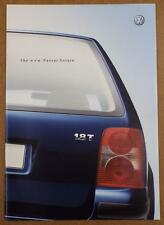 Volkswagen Passat Estate 2000 UK Market Sales Brochure