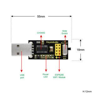 KEYESTUDIO USB to ESP-01S ESP8266 WIFI Programmer Module Serial Port Shield EU