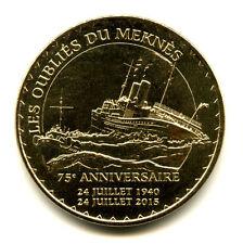 76 DIEPPE Les Oubliés du Meknès, 75ème anniversaire, 2015, Monnaie de Paris