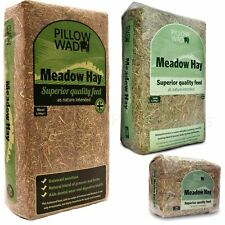 More details for pillow wad meadow hay quality dried grass small animal pet natural bedding feed