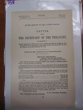 Government Report 1895 money currency received in exchange for bonds #758