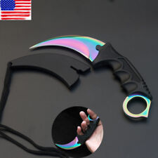 CS GO Sharp Fixed Knife Stainless Steel Blade Saber Karambit Knives Outdoor Tool
