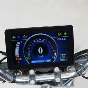 12V Motorcycle Speedometer Odometer Tachometer RPM Speed LCD Gauge Universal