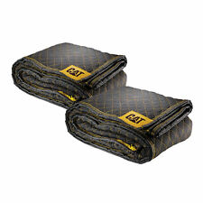 """Cat Premium Woven Utility Padded Moving Blankets 80"""" x 72"""" 2 Pack - 240031"""