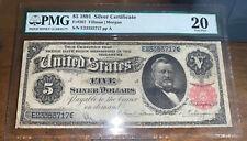 1891 $5 Silver Certificate FR#267 - Tillman/Morgan PMG 20 - Very Fine AH