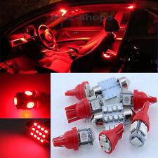 Red Interior LED Light Package 12V 6PCS Kit Fit Kia Sorento KS1R 2011-2013