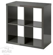 IKEA KALLAX Regal hochlanz grau 77 x 77 x 39cm Bücherregal Wandregal Sideboard