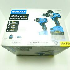 Kobalt 2-Tool 24-Volt Max Brushless Power Tool Combo (Charger and Battery) New