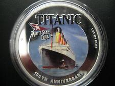 100TH ANNIVERSARY OF R.M.S TITANIC 2012 1-OZ SILVER PROOF  NO CASE