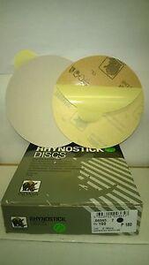 "180's DA STICKY DISCS INDASA RHYNOSTICK 6"" OR 150MM BOX OF 100 ORBITAL SANDER"
