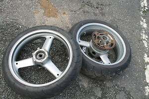 TRIUMPH SPRINT 955i 955 RS FRONT AND REAR WHEELS / TYRES