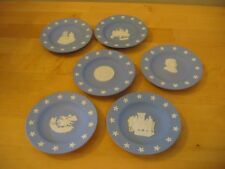 Vintage Wedgwood Set of 6 Blue Collectors Society Bicentennial Plates w/Stars