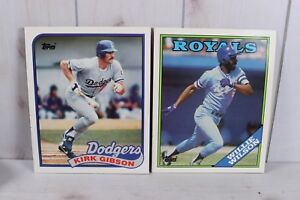 Lot 2 1988 1989 Topps Duo Tang School Notebook Folder Kirk Gibson Willie Wilson