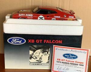 AutoArt/Biante FALCON XB GT 1975 BATHURST Allan Moffat/Geoghegan SIGNED Ltd1:18