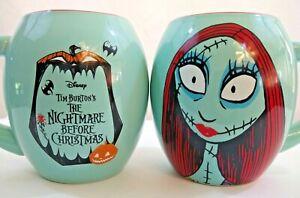 Two Disney Tim Burton's The Nightmare Before Christmas 18 Oz. Ceramic Sally Mugs