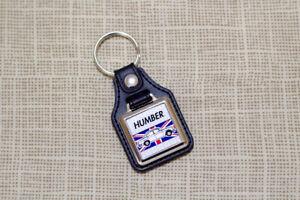 Humber Hawk Keyring - Leatherette & Chrome Keyfob
